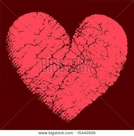 Vector Illustration Of Bbroken Heart