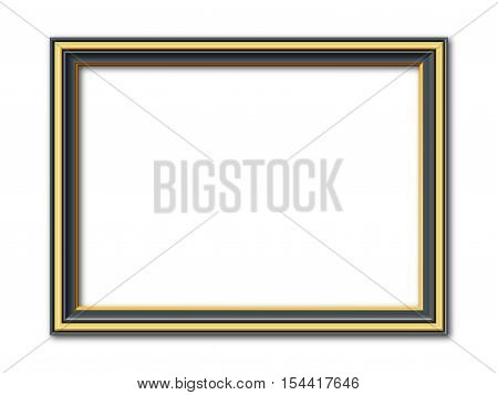 anthracite and golden ancient vector picture frame
