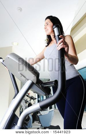 girls cycling and working out at the gym