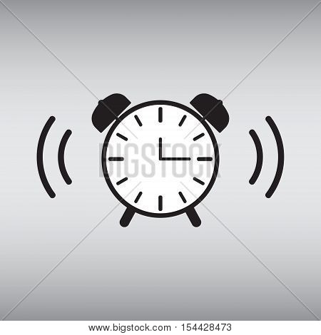 Alarm clock isolated vector sign. Alarm clock vector illustration. Wake up vector icon. Alarm clock vector image.