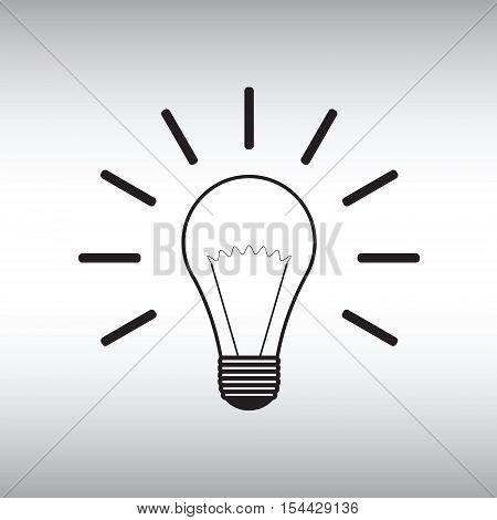 Lightbulb vector icon. Lightbulb vector sign. Lightbulb vector image.