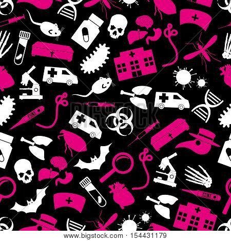 Plague And Disease Theme Simple Seamless Pattern Eps10