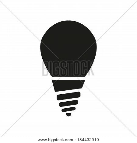 The incandescent lamp icon. Lamp and bulb, lightbulb, filament lamp, glow-lamp, light bulb symbol.UI. Web. Logo. Sign. Flat design. App. Stock vector