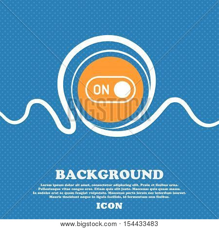 Start Icon Sign. Blue And White Abstract Background Flecked With Space For Text And Your Design. Vec