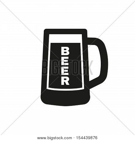 Glass of beer icon. Beer and pub, bar symbol. UI. Web. Logo. Sign. Flat design. App.Stock vector