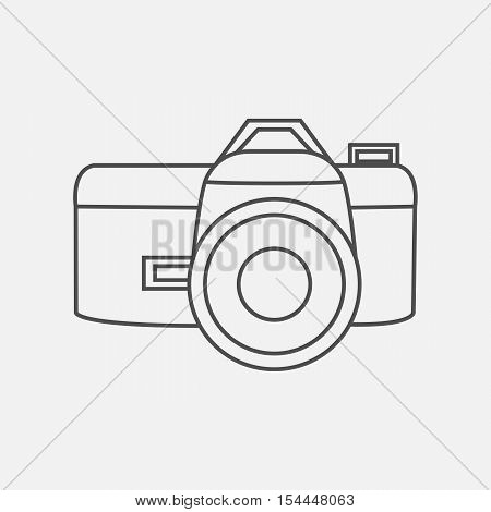 Vector illustration photo camera icon in line style