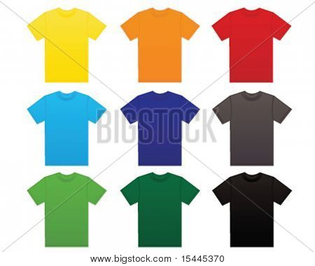 t shirt in different colors
