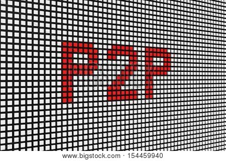 p2p in the form of scoreboard 3D illustration