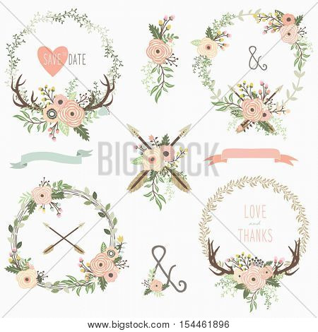 Tribal Floral Wreath