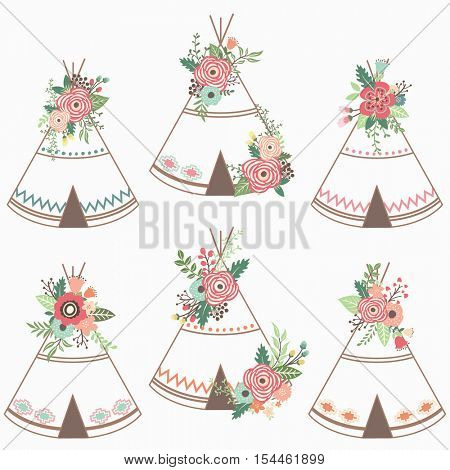 Flower Teepee Elements