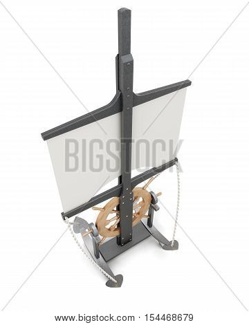 Design Signage Menu In A Nautical Theme Isolated. 3D Rendering
