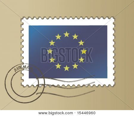 postmarked stamp of the European Union