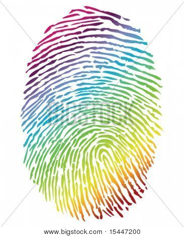 Arco-íris Finger Print