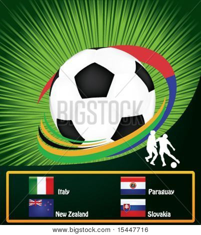 football poster with national flags