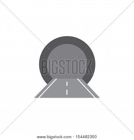 Vector illustration of the tunnel. flat style.