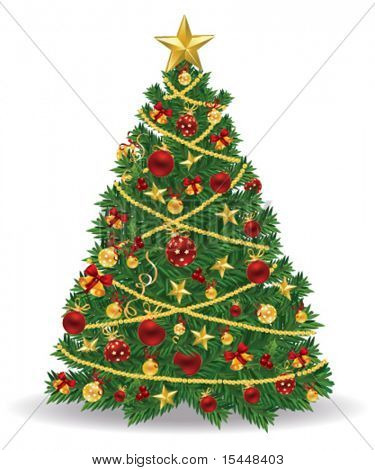 christmas tree. vector
