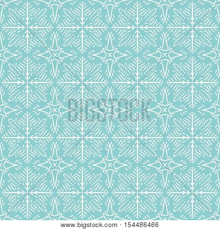 Blue christmas background with seamless pattern. Ideal for printing onto fabric and paper or scrap booking.