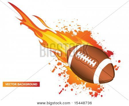 Football in flames