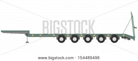 Isolated trailer trawl on a white background. Vector illustration