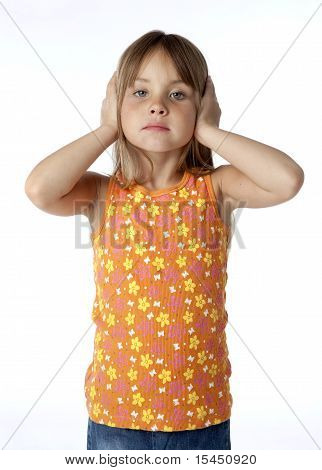 Kid Covering Ears