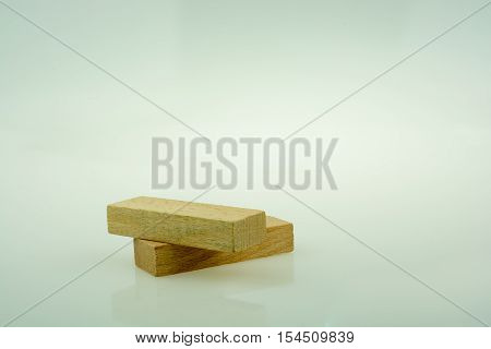 Wooden Domino  On White Background