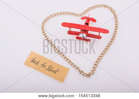 The  Title Back To School In Heart And Airplane