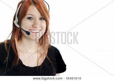 Attractive Redhead Receptionist
