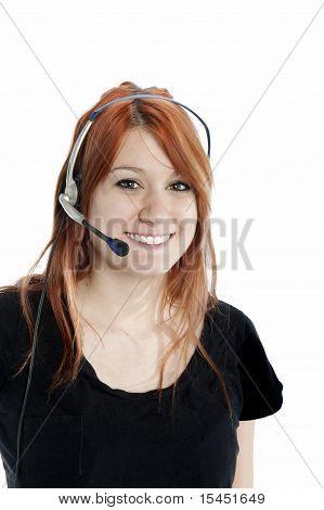 Pretty Redhead Receptionist