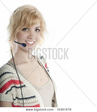 Attractive Blond Receptionist
