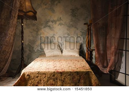 Bedroom Interior In The Vintage Style