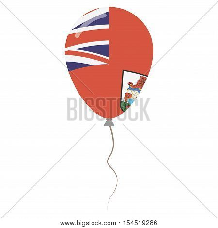 The Bermudas Or Somers Isles National Colors Isolated Balloon On White Background. Independence Day