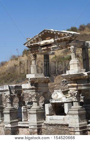 Ancient Ruins In Ephesus Turkey