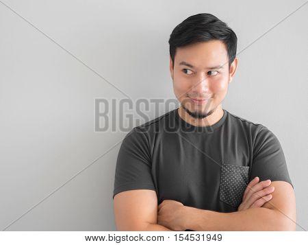 Confident Man In Black T-shirt.