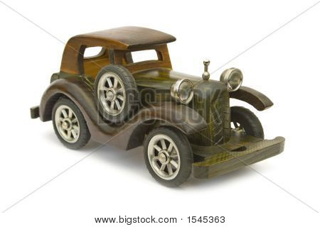 Retro Wooden Car (Toy)