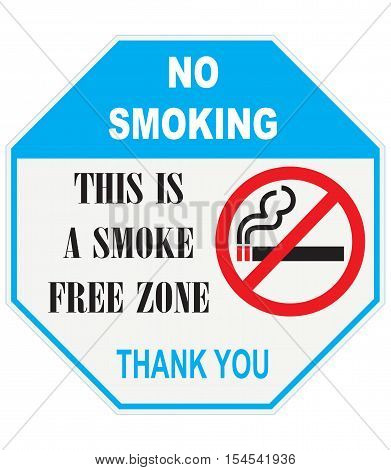 Warning pointer This Is A Smoke Free Zone