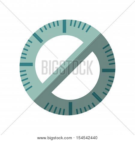 protractor rule isolated icon vector illustration design
