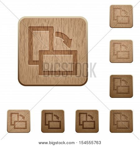 Rotate right icons in carved wooden button styles