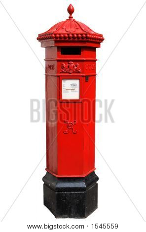 English Victorian Hexagonal Post Box