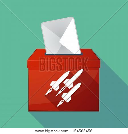 Long Shadow Ballot Box With Missiles