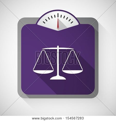 Long Shadow Weight Scale With A Justice Weight Scale Sign