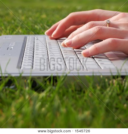 Womens Hands Typing