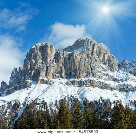 Winter Rocky Mountain View, Italy.