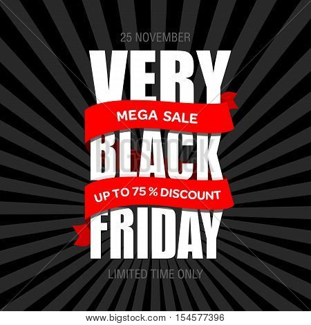 Black Friday Sale Inscription Best Design Template. Black Friday Banner Poster Badge Sticker Web Adv
