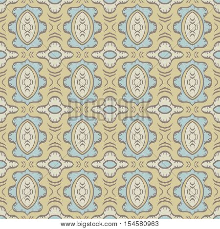 Beige background with seamless pattern. Ideal for printing onto fabric and paper or scrap booking.