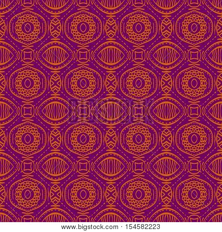 Purple background with seamless floral pattern. Ideal for printing onto fabric and paper or scrap booking.