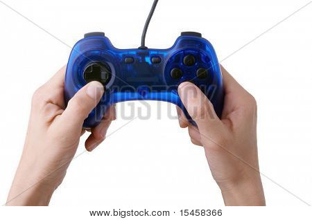 joypad in hands