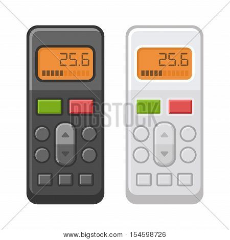 Remote Control of Air Conditioner. Flat Style. Vector illustration