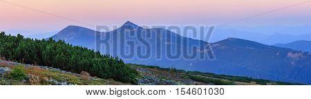 Summer Sunrise Mountain View (carpathian, Ukraine).