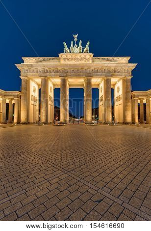 The famous Brandenburger Tor in Berlin at night
