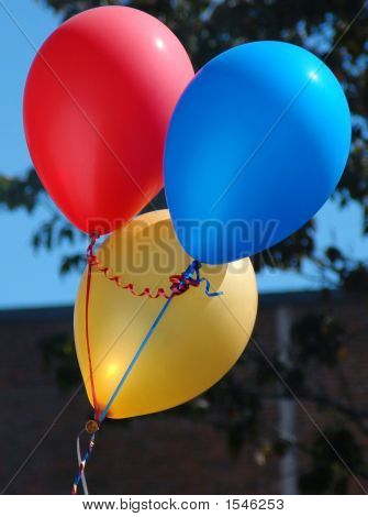 Primary Colored Balloons